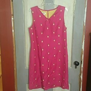 Talbots Pink and Yellow Pineapple Dress